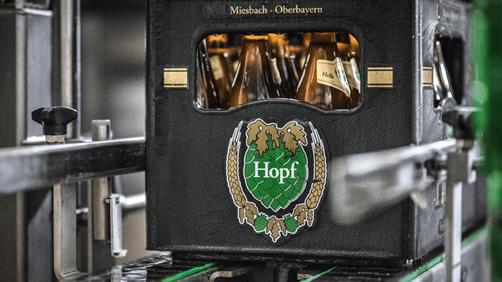 Kasten Hopf Weißbier, © Brauerei Hopf