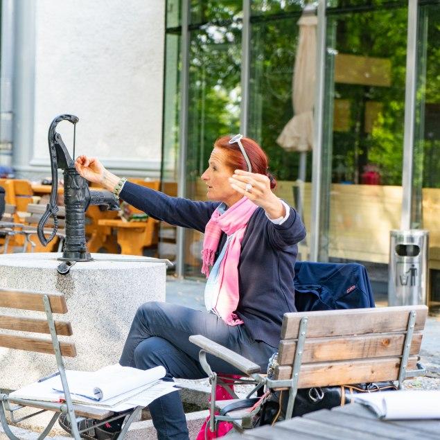 Steffi Baier in Aktion, © Max Kalup