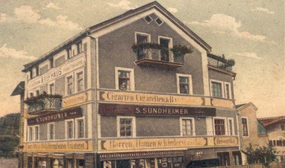 Kaufhaus Sundheimer 1908, © Heimatmuseum Miesbach